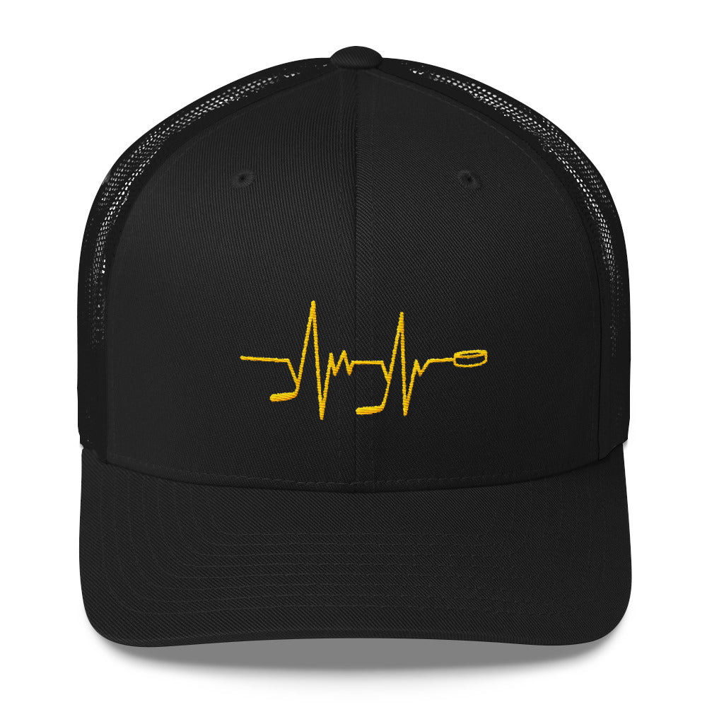 Hockey Heartbeat Trucker Cap