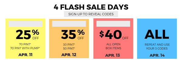 4 Flash Sale Days