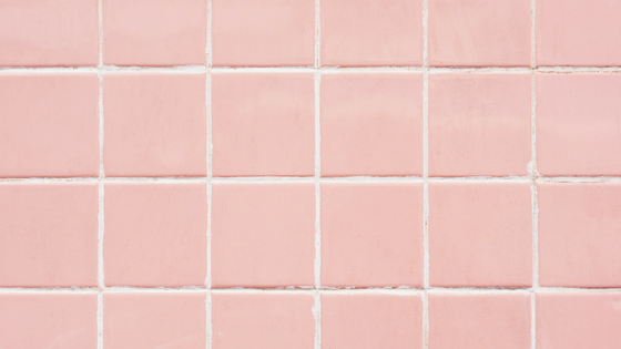 Pink Bathroom Wall Grout. Photo by Rawpixel on Pixabay.