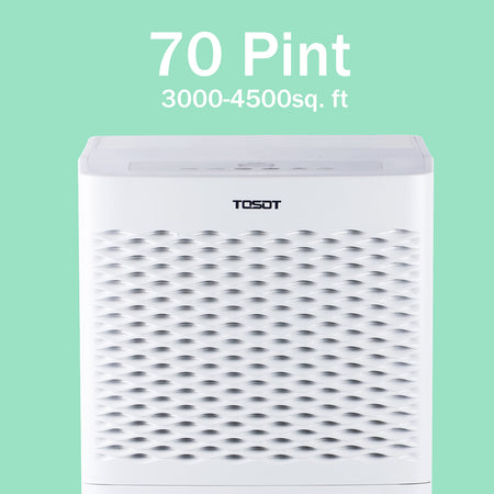 (Open Box) Tosot 4,500 Sq. Ft. 70 Pint Dehumidifier