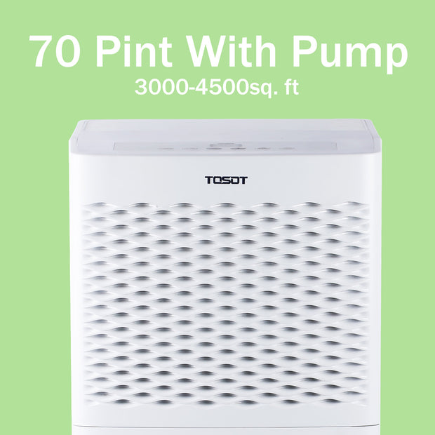 (Open Box) Tosot 4,500 Sq. Ft. 70 Pint Dehumidifier with Internal Pump