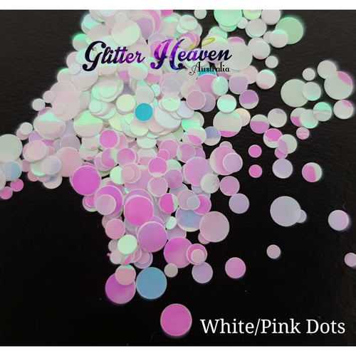 White/Pink dots 6 to 7 grams