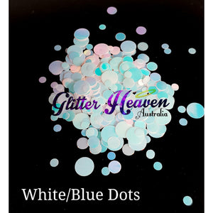 White/Blue Dots