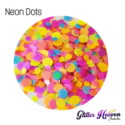 Neon Dots. 6-7 Grams