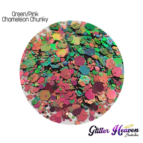 Green/Pink Chameleon Chunky 7 to 8 Grams