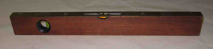 J Rabone & Sons mahogany spirit level with brass fittings