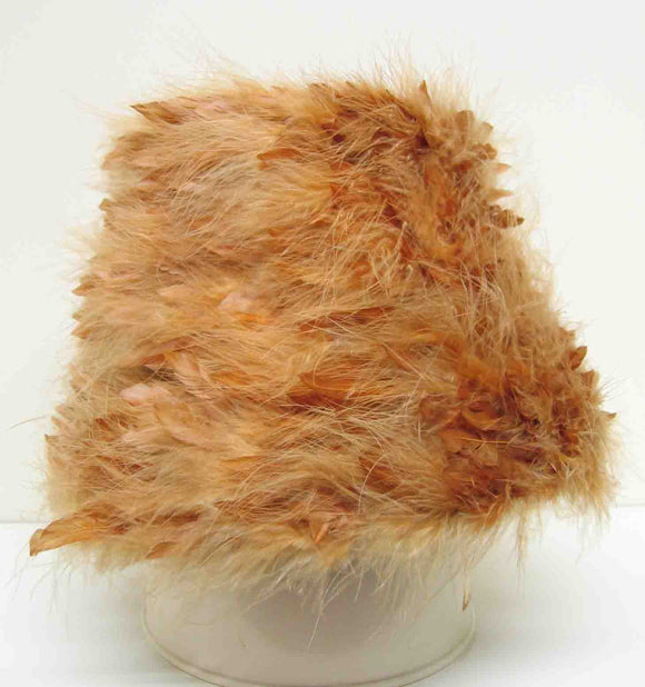 Harbig Feather hat For Judit White c1960