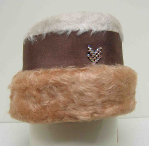 Brushed woollen hat c1960