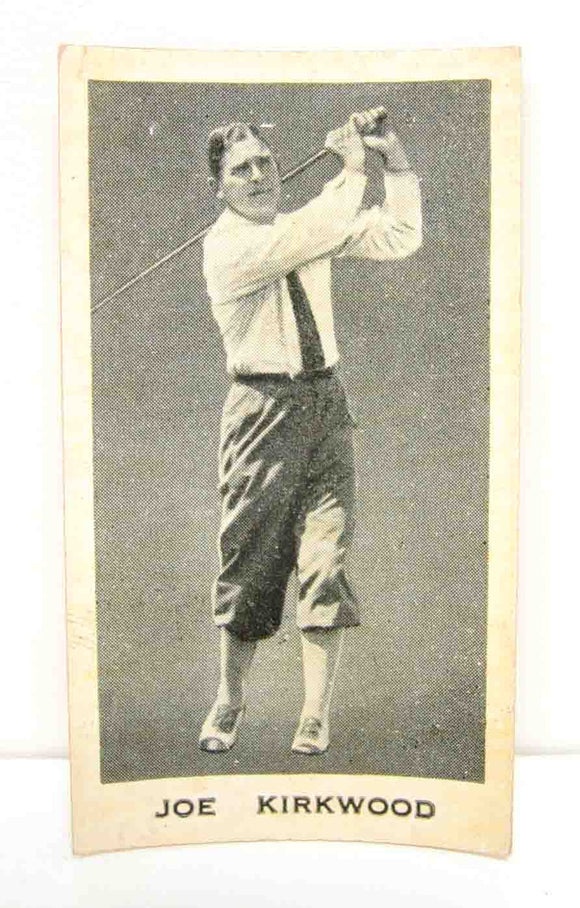 Cigarette card Joe Kirkwood #7 in a series of Australian Sporting celebrities issued by Godfrey Phillips.