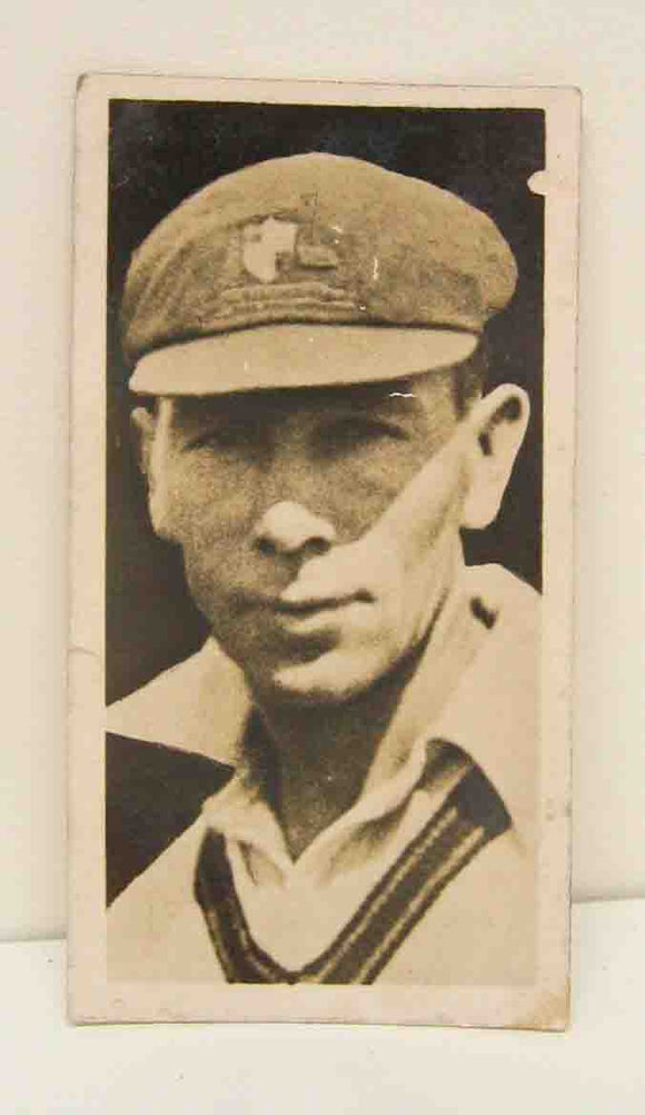 Cigarette card A.A.Mailey New South Wales cricketer #20/40 issued by Major Drapkin & Co.