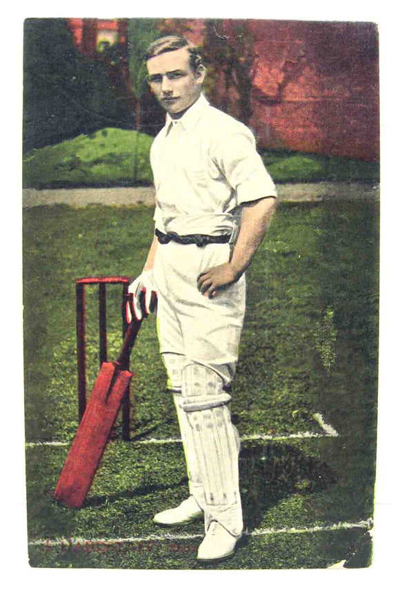 Postcard of an unknown cricketer / batsman in unused condition.