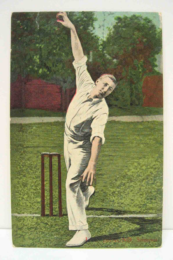 Postcard of an unknown cricketer / bowler in unused condition.