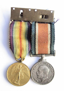 Australian WWI bar of 2 medals