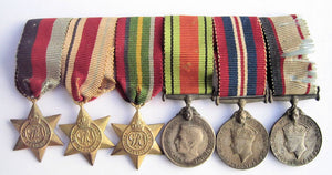 Australian WWII group of 6 miniture medals