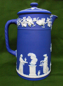 Wedgwood blue jasper coffee pot