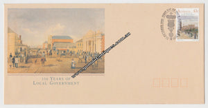 Australian First Day Cover 150 Years Of Local Government 43c Postmarked 31 October 1990