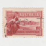 Australian 1927 1 1/2 Penny Stamp Opening of Parliament