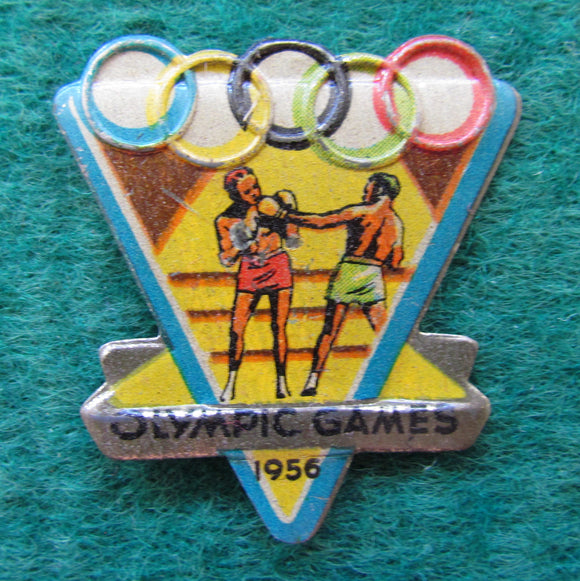 Australian Melbourne 1956 Olympic Games Boxing Tin Badge