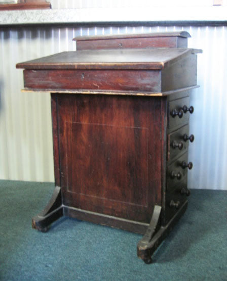 Walnut Veneered Davenport c1870