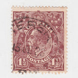 Australian 1919 1 1/2 Penny Red Brown King George V Stamp