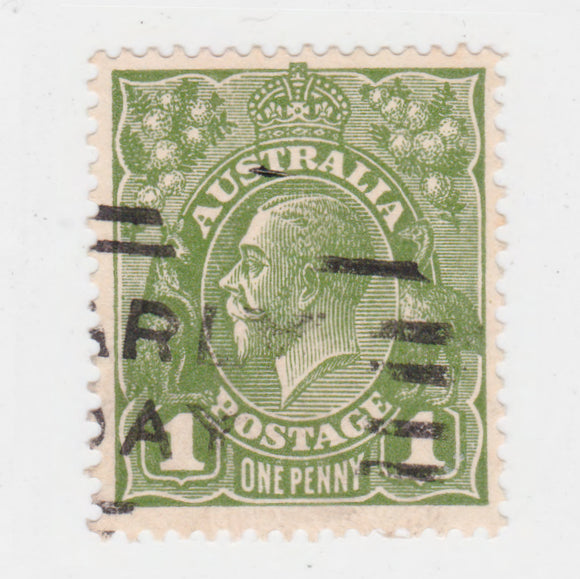 Australian 1924 1 Penny Sage Green King George V Stamp