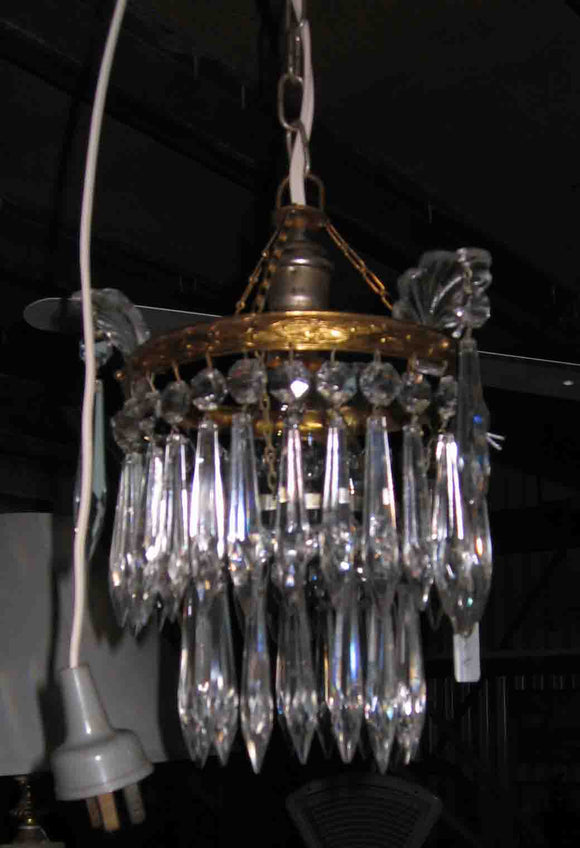 Crystal 2 tier chandelier