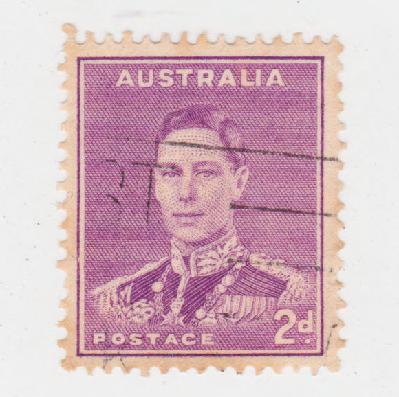 Australian 1941 2 Penny Bright Purple King George VI Stamp Type 2