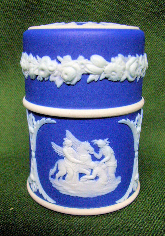 Wedgwood blue jasper toothpick holder