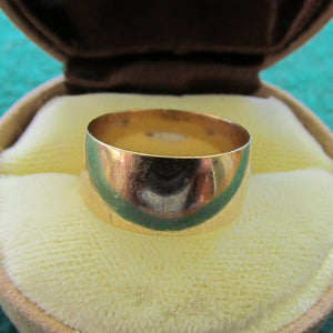 9ct Gold Wide Band Wedding Ring