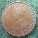 Australian 1915L 1d 1 Penny King George V Coin
