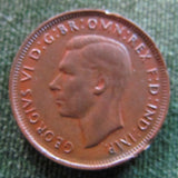 Australian 1948 1/2d Half Penny King George VI Coin - Variety Clipped Error Rim