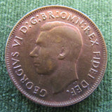 Australian 1950Y. 1/2d Half Penny King George VI Coin - Low Circulation