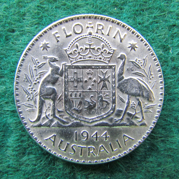 Australian 1944 Florin King George VI Coin - Circulated
