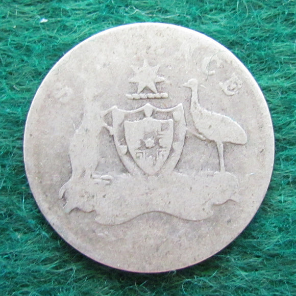 Australian 1921 Sixpence King George V Coin - Circulated