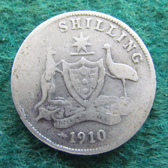Australian 1910 Shilling Coin King Edward VII Circulated