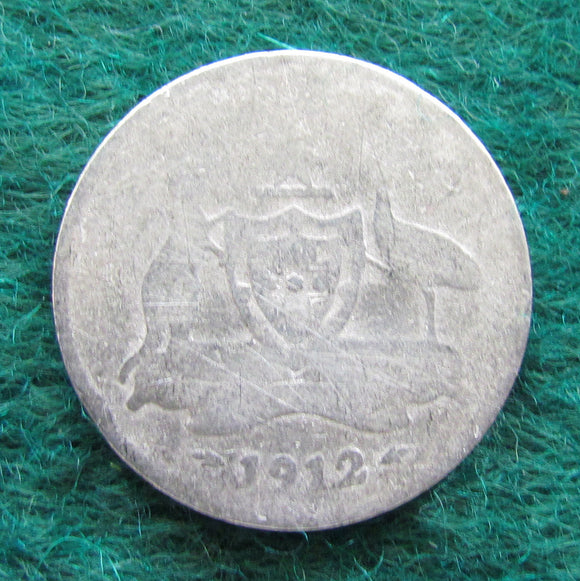 Australian 1912 Sixpence King George V Coin - Circulated