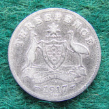 Australian 1917 M Threepence King George V Coin Circulated