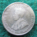 Australian 1921 M Threepence King George V Coin Circulated