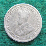 Australian 1924 Threepence King George V Coin Circulated