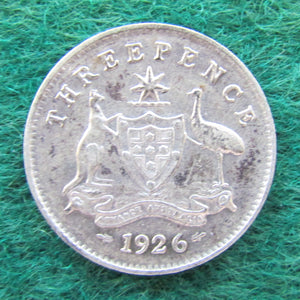Australian 1926 Threepence King George V Coin Circulated