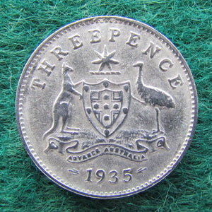 Australian 1935 Threepence King George V Coin