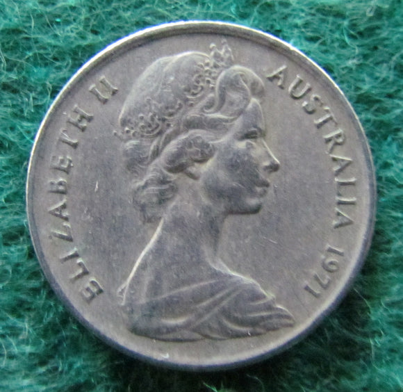 Australian 1971 5 Cent Queen Elizabeth II Coin - Circulated