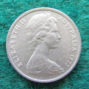 Australian 1972 5 Cent Queen Elizabeth II Coin - Circulated