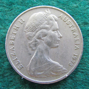 Australian 1973 20 Cent Queen Elizabeth Coin - Circulated