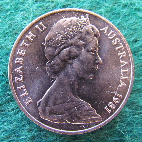 Australian 1981 2 Cent Queen Elizabeth II Coin - Uncirculated