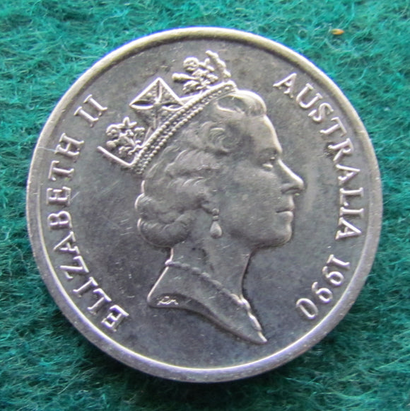 Australian 1990 10 Cent Queen Elizabeth II Coin - Circulated