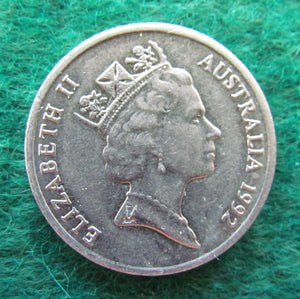 Australian 1992 10 Cent Queen Elizabeth II Coin - Circulated