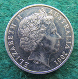 Australian 2001 20 Cent Coin Centenary Of Federation South Australia Queen Elizabeth II Coin - Circulated