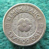 Australian 2012 2 Dollar Coin Remembrance - Circulated