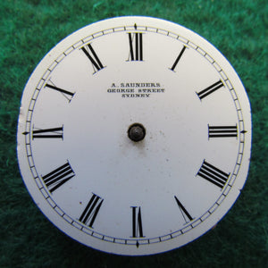 A Saunders George Street Sydney Partial Watch Movement 30.5mm